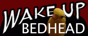 Wake Up Bedhead logo with Django, a parrotlet, on it